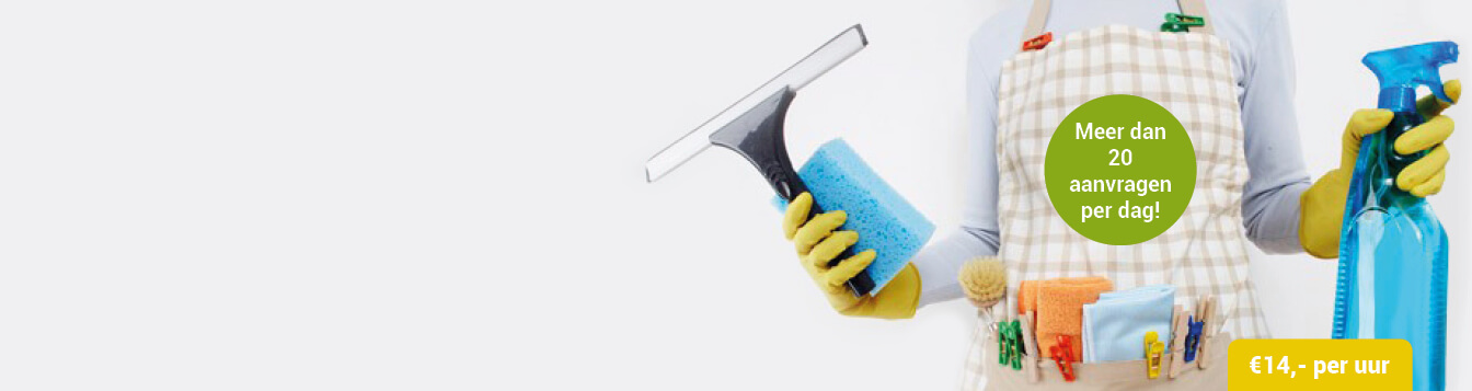 Betrouwbare schoonmaakster gezocht?